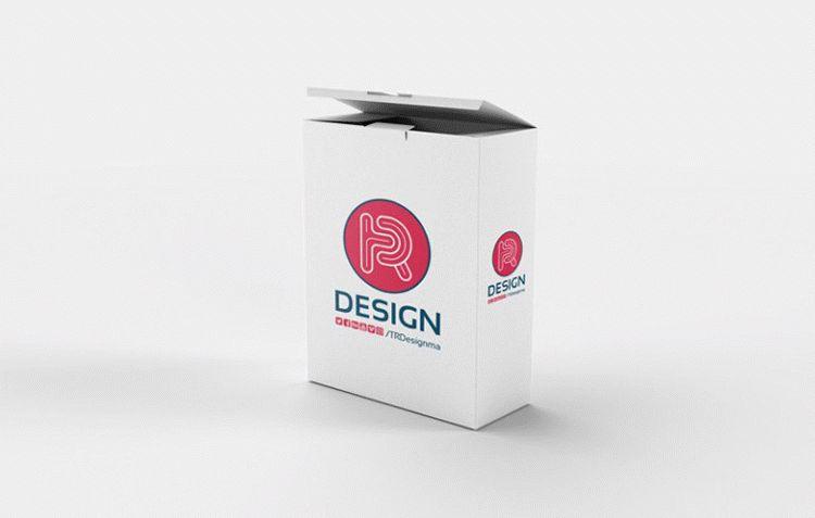 Open Box Mockup PSD