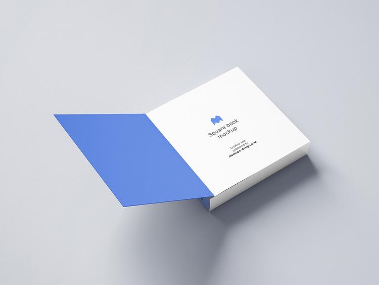 10 free square book mockup