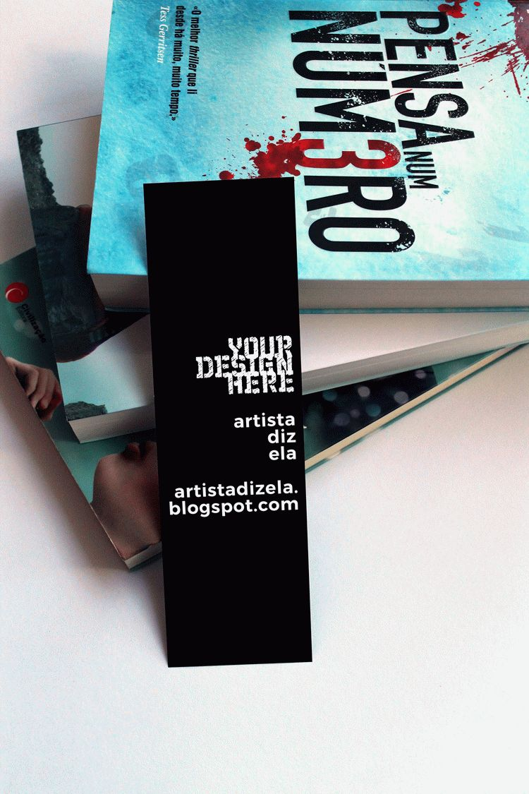 Bookmark Mockup Free Commercial Use