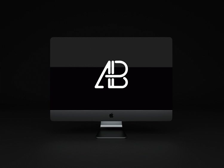 Animated iMac Pro PSD Mockup