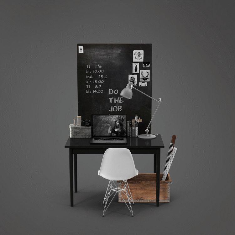 Beautiful Wooden Computer Table PSD Mockup