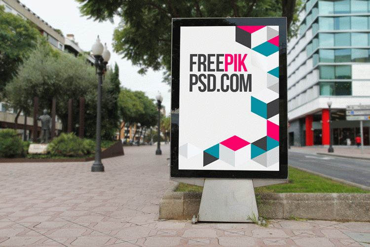 Bus Stop Poster Mockup Free Psd