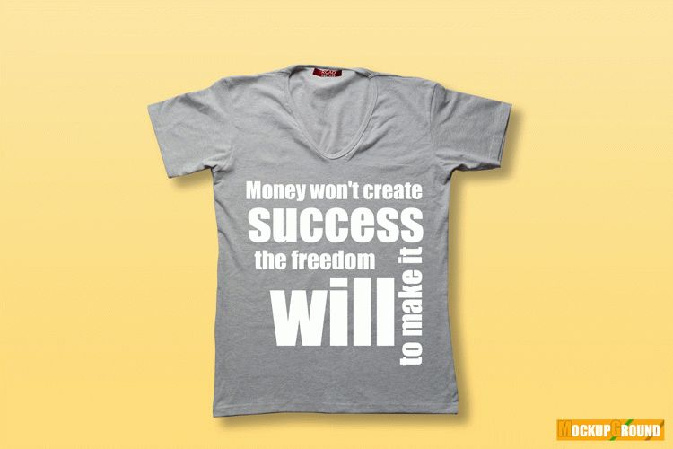 Creative V-Neck Shirt Free Mockup