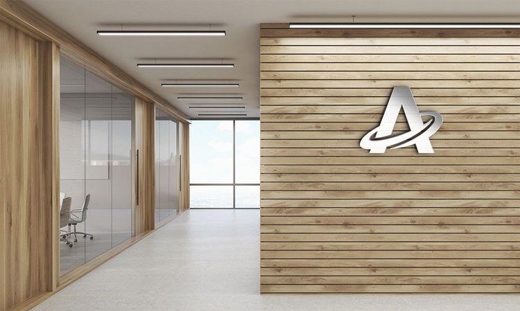 Free 3d Office Logo Mock Up Download