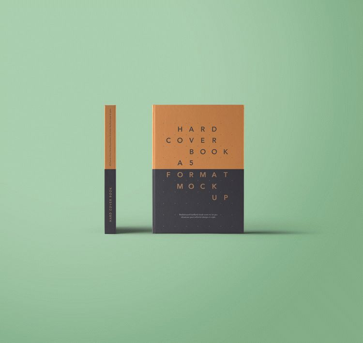 Free A5 Hardcover Book Mockup