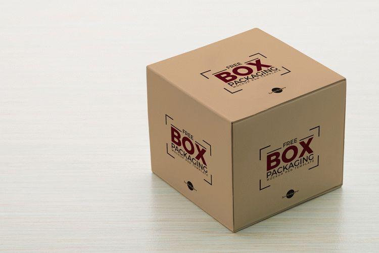 Free Box Packaging Mockup PSD Template