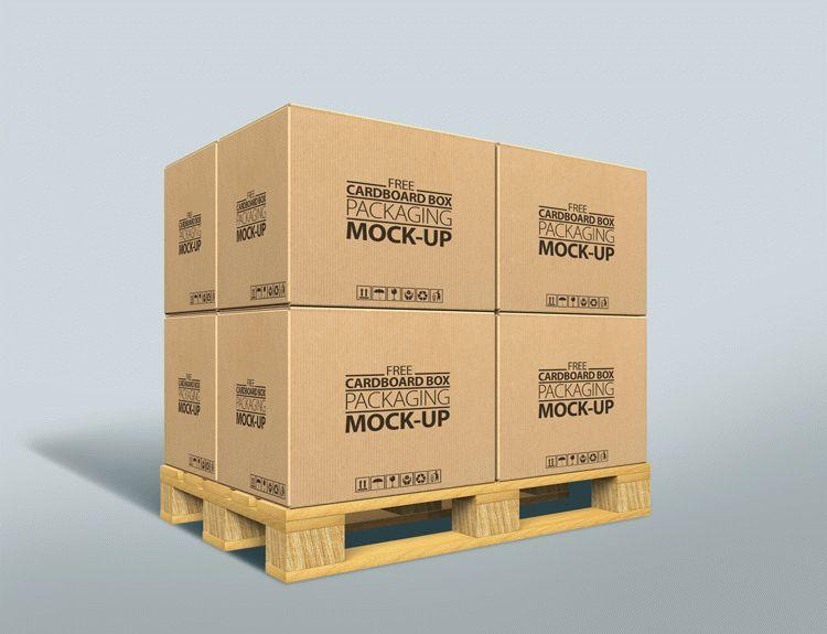 Free Cardboard Box Packaging MockUp