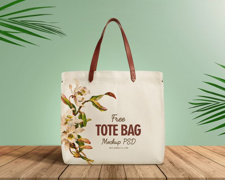 Free Cotton Shopping Bag Mockup PSD