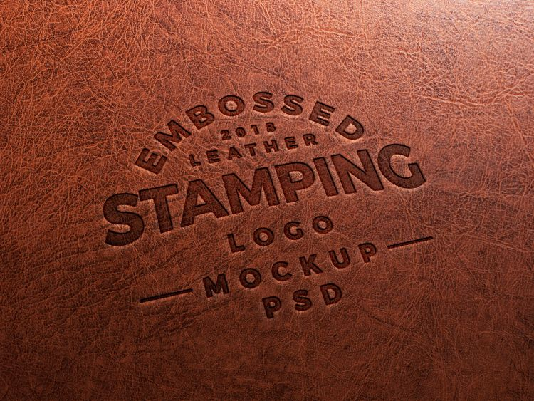 free embossed leather stamping logo mockup psd download free embossed leather stamping logo