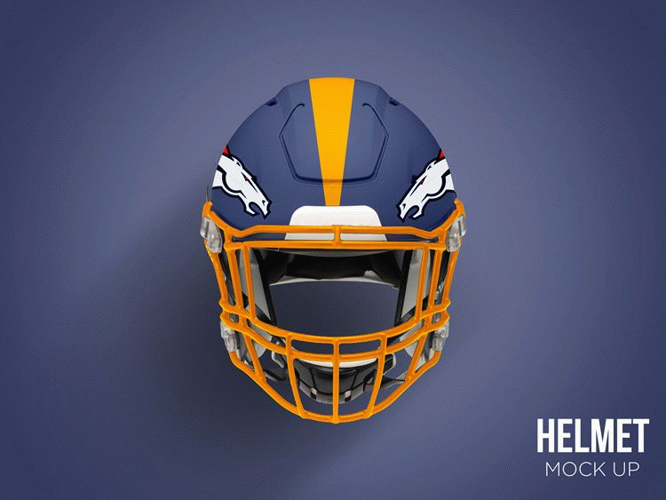 Free Football Helmet Mockup