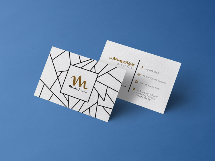 Free Front / Back Business Card Design Template & Mockup ...