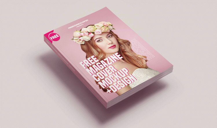Free Magazine Cover Mockup +Design
