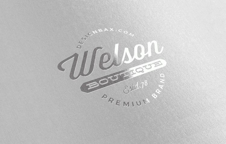 Free Metallic Silver Logo Mock-Up