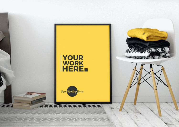 Free Room Interior Standing Poster Mockup PSD 2018 | Download