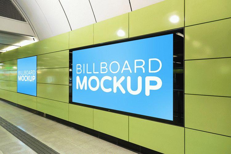 Free Subway Billboard Mockup