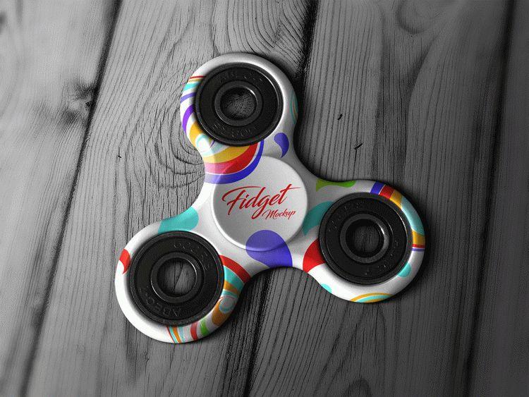 Free Tri-Fidget Spinner Hand Toy Mockup PSD