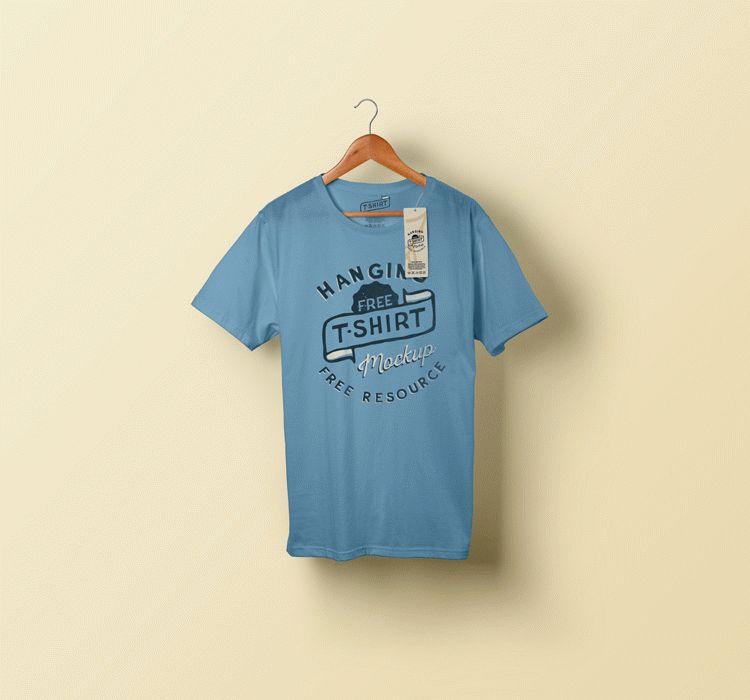Hanging T-shirt Mockup (Freebie)