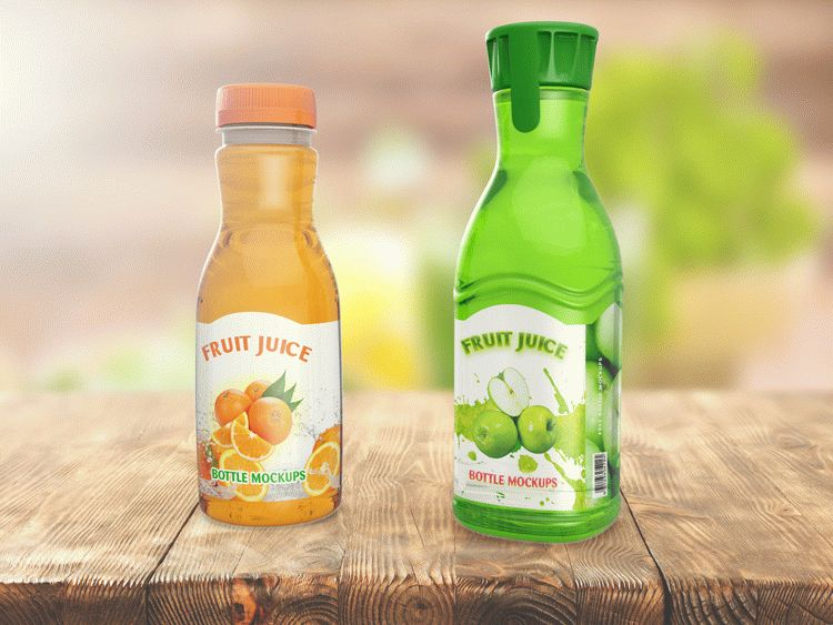 JUICE BOTTLE MOCKUPS
