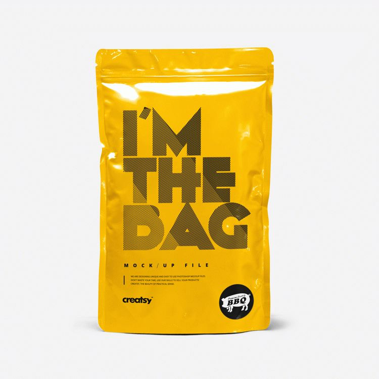 Label Representation Bag Mockup