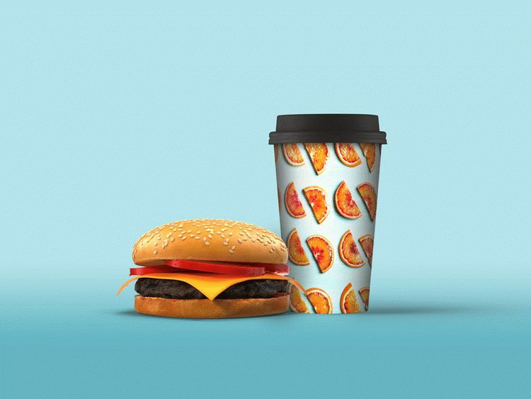 Paper Cold Drink Cup Mockup