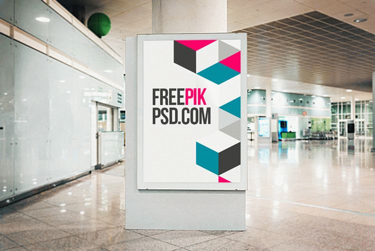 Street Poster Mockup Free Download