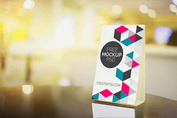 Table Tent Free PSD Mockup Download
