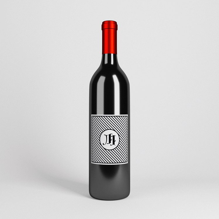 Wine Bottle Mockup PSD With Parallax - FREE PSD