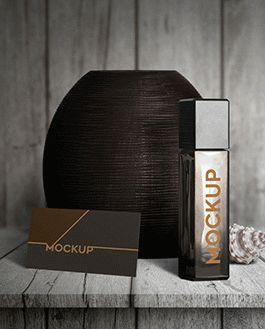 Perfume Mockup With Logo