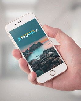 iPhone 6 Mockup With App