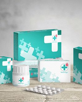 Medical Packaging Mockup With Logo