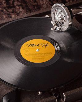 Vinyl Mockup With Logo