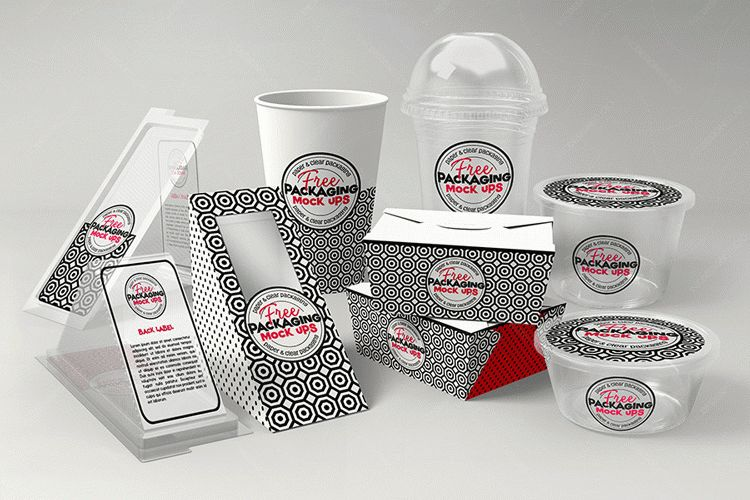 FREE Fast Food DELI Set PSD Mock Up Template