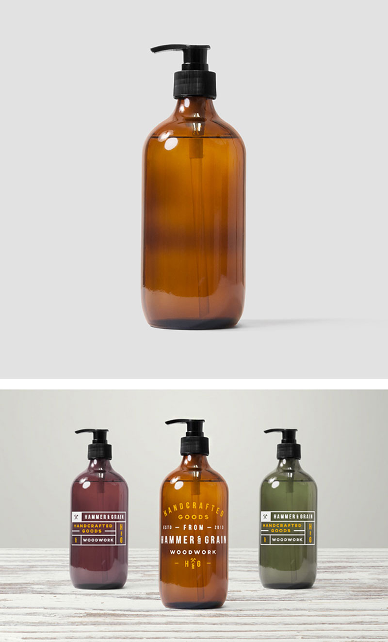 Free Dispenser Bottle MockUp In Psd