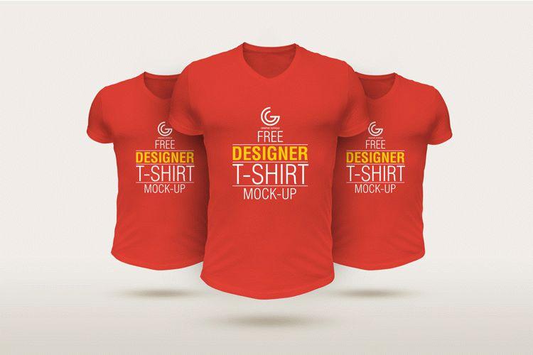 Free Designer T-Shirt Mockup PSD