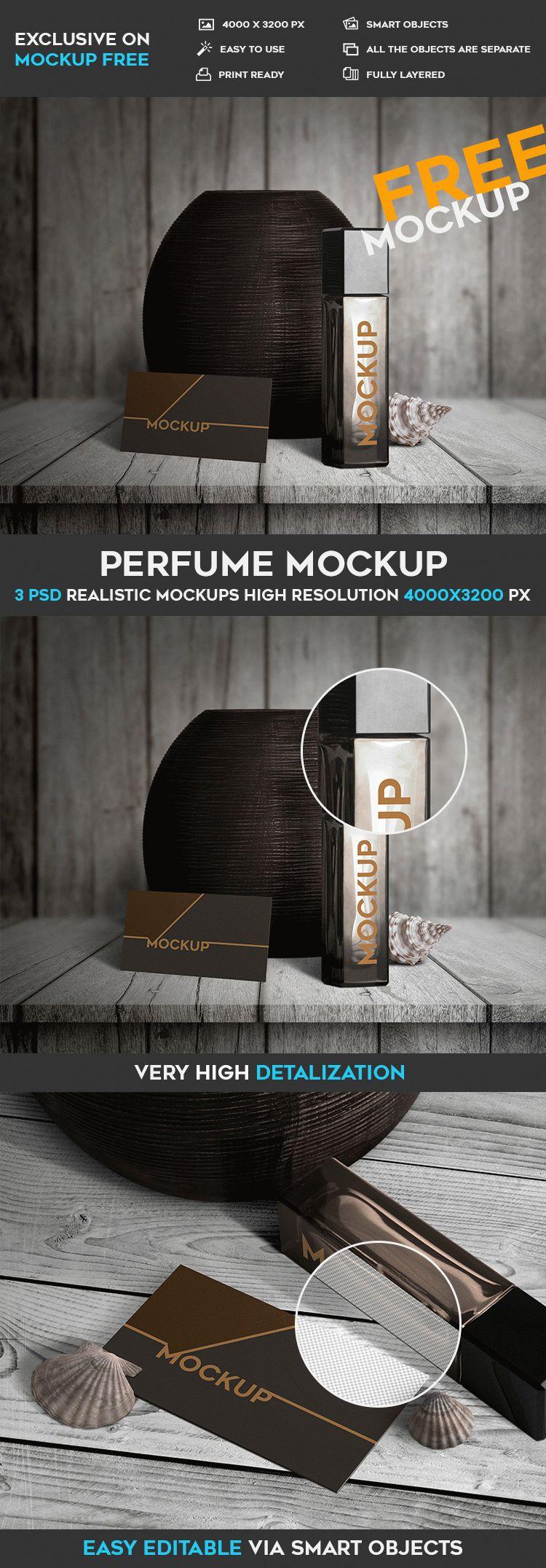 Perfume - 3 Free PSD Mockups