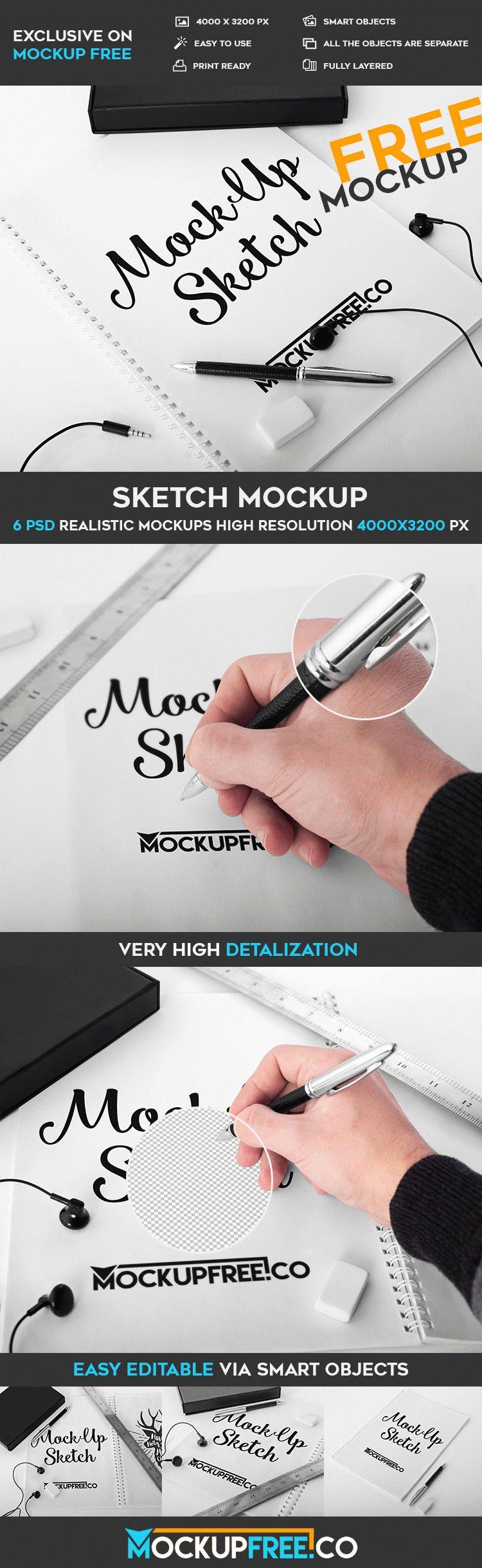 Sketch - 6 Free PSD Mockups