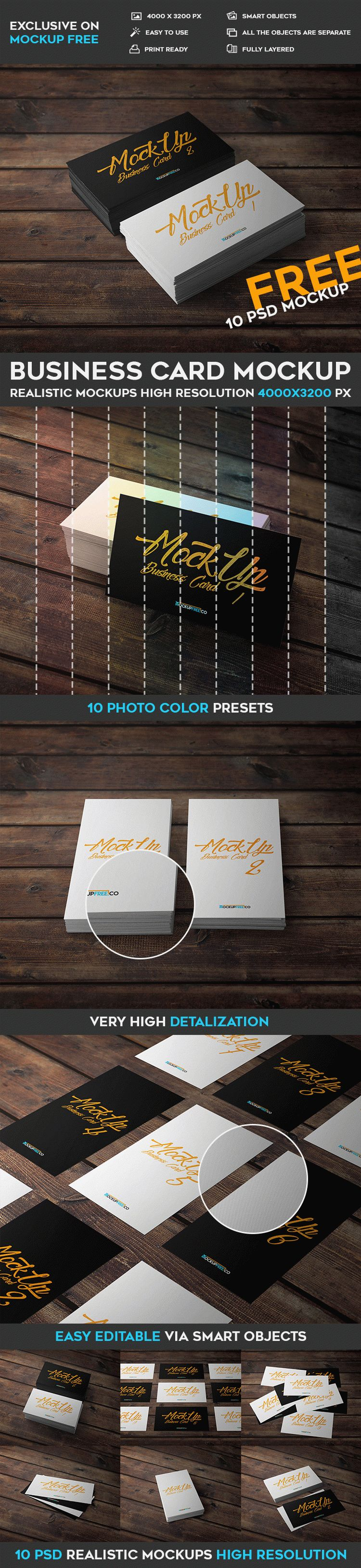 Business Card - 10 Free PSD Mockups