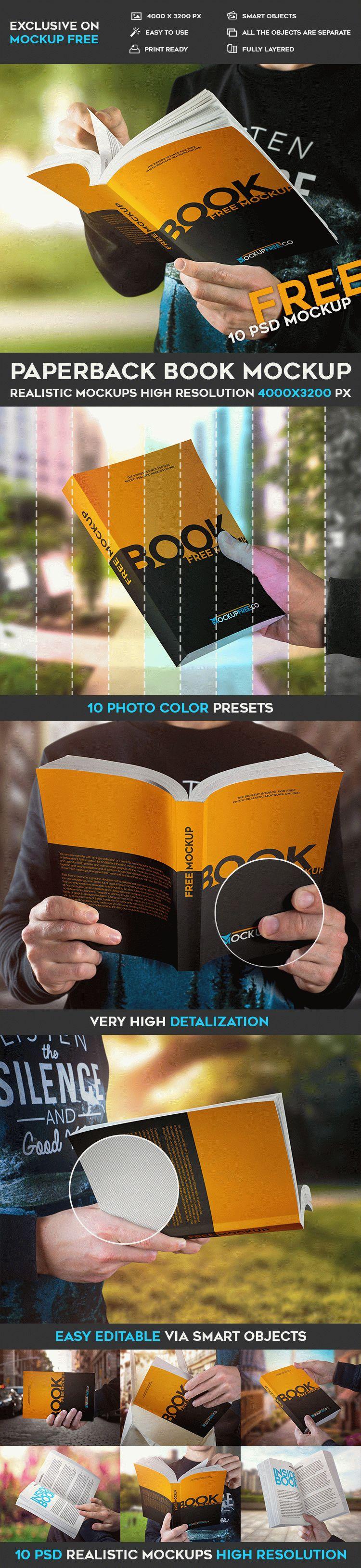 Paperback Book - 10 Free PSD Mockups
