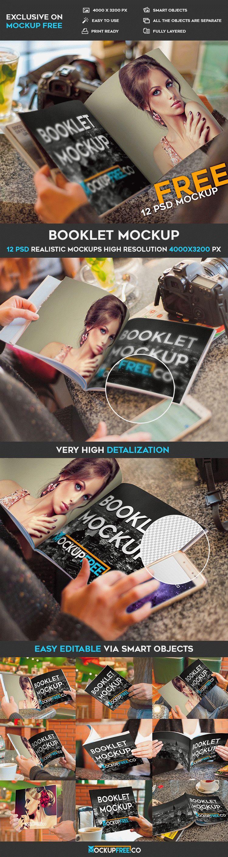 Booklet – 12 Free PSD Mockups