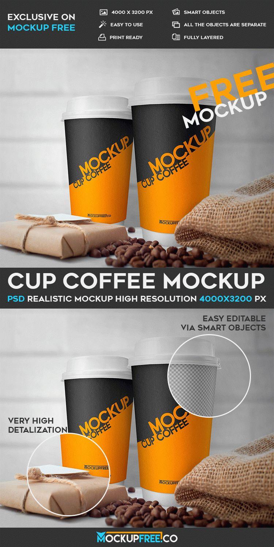 Cup Coffee - Free PSD Mockup