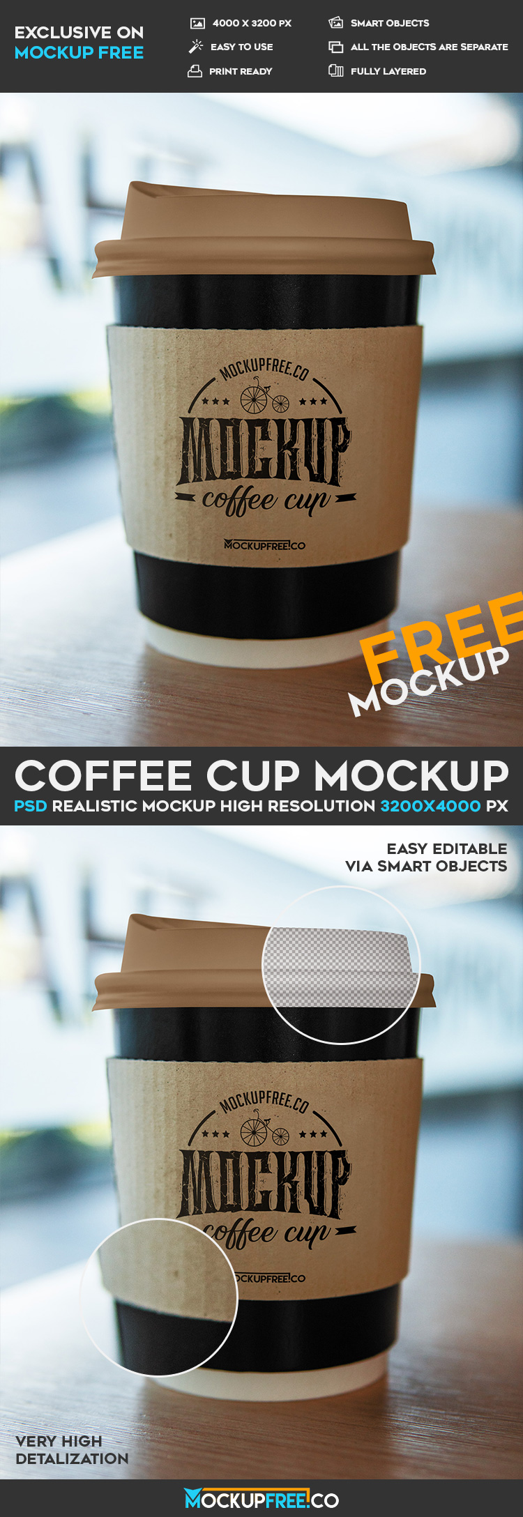 Coffee Cup - Free PSD Mockup | Download