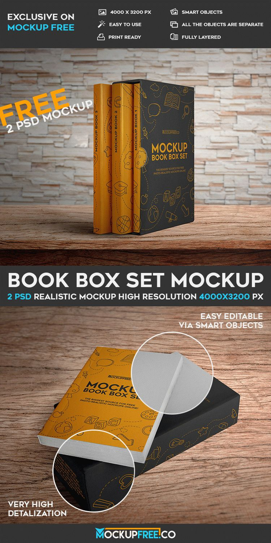 Book Box Set - 2 Free PSD Mockups