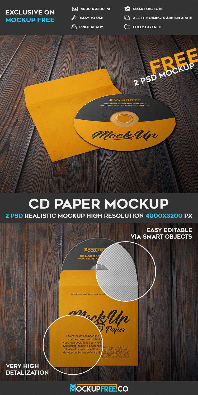 CD Paper - 2 Free PSD Mockups