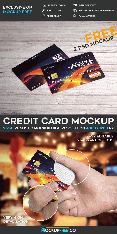 Credit Card - 2 Free PSD Mockups