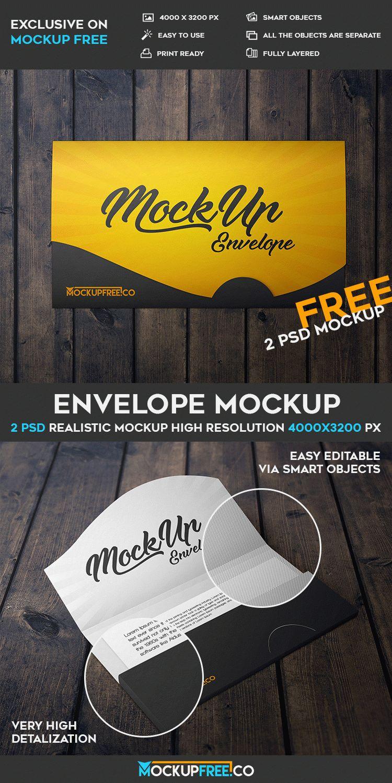 Envelope - 2 Free PSD Mockups
