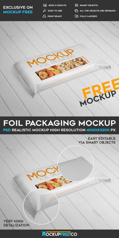 Foil Packaging - Free PSD Mockup