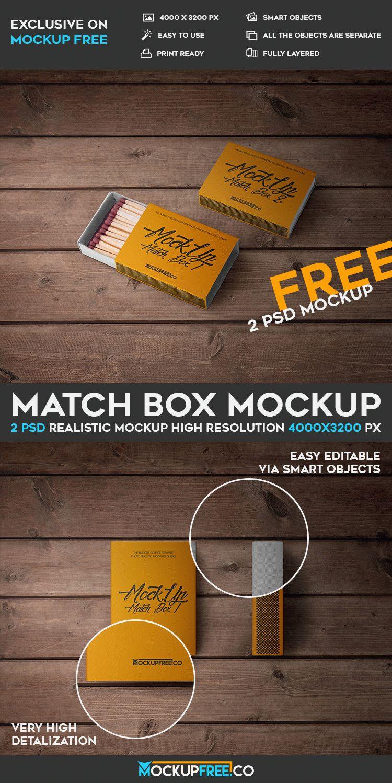 Match Box - 2 Free PSD Mockups