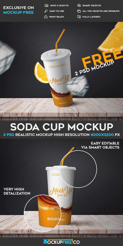 Soda Cup - 2 Free PSD Mockups