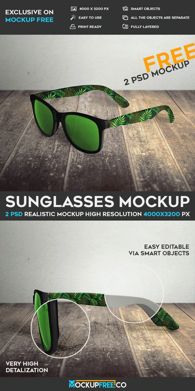 Sunglasses - 2 Free PSD Mockups