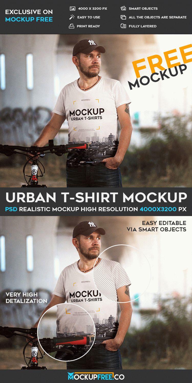 Urban T-Shirt - Free PSD Mockup